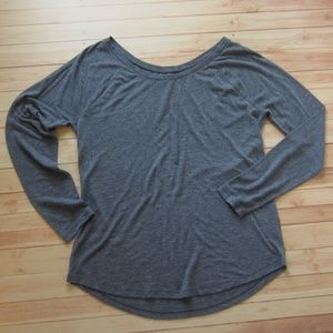 Old Navy Raglan Style Scoop Neck, Gray, large